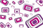 Abstract Geometric Pattern in Purple Tones